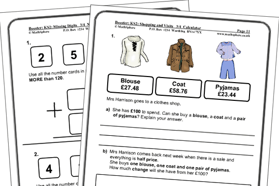 KS2 Maths Sats – Key Stage 2 Maths Worksheets Uk