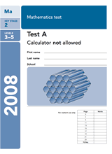 2008-SATs-Maths-A-Non-Calculator