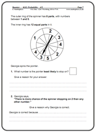 math worksheet : ks2 maths sats revision program samples : Maths Probability Worksheets